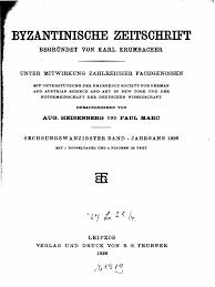Byzantinische Zeitschrift Jahrgang 26 1926