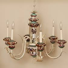 vintage italian hand painted chandelier omero home