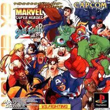 marvel super heroes vs street fighter e iso psx isos