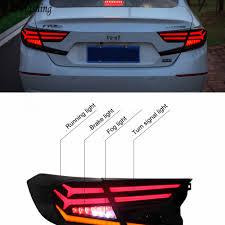 2018 Honda Accord Brake Lights Us 280 07 30 Off 2pcs Car Styling Taillight Tail Lights For Honda Accord 2018 2019 Led Taillights Case For Accord Tail Lamp Rear Trunk Lamp Cover In