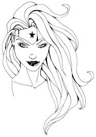 Coloring Pages Of A Girl Beautiful Wonder Woman Free Coloring Page ...