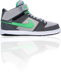 nike 6 0 skate shoes. nike 6.0 zoom mogan mid 2 grey, white, \u0026 green skate shoes 6 0