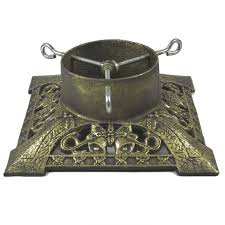 Large Christmas Tree Stand Cast Iron Christmas Tree Stand Antique Gold Charlies Direct