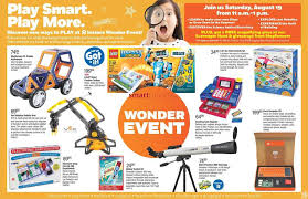 r flyers toys r us wonder event flyer august 11 to 24