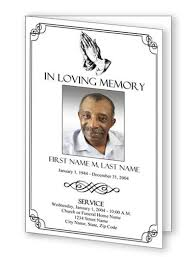 Funeral Templates Free Cool Praying Hands Funeral Program Template This Is A Traditional Design