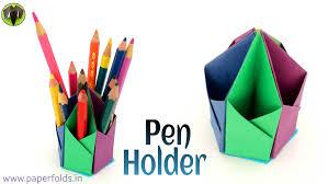 Hexagonal Pen   Pencil Holder - DIY Tutorial by Paper Folds  - YouTube
