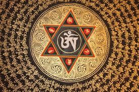 Huge Om Mani Padme Hum Mantra Mandala Thangka Painting ом мани