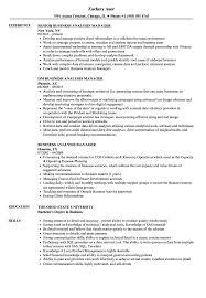 Business Analyst Modern Resume Template Business Analysis Manager Resume Samples Velvet Jobs