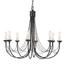 carisbrooke 8 light chandelier black