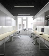 minimal office design. Cool Minimalist Office Design Inspiration With Grey Concrete Floor And Floating Table Minimal