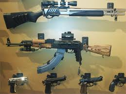 displays semi automatic and revolver pistols also works for fishing rods