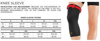 Under Armour Arm Sleeve Size Chart Best Knee Compression Sleeves Of 2019 High Ground Sports