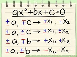 image result for methods of solving quadratic equations credits wikihow