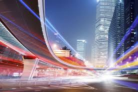 City Lights Home Entertainment Concept E2 Brand Identity Smart City City Night City