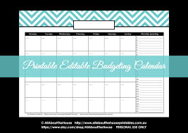 Printable Chevron Letters Budget And Bill Pay Calendar Spending Chevron Letter Size