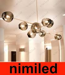 bubble glass chandelier large twelve light