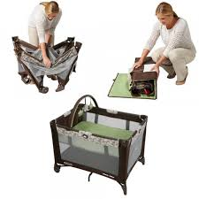 Graco Playard Pack \u0027n Play On the Go Folding Feet and Wheels Perfect for Travel