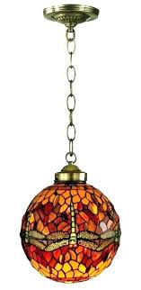 vintage stained glass hanging lamp light fixture old fixtures