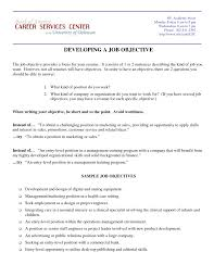 Resume Objective Examples For Students Study Good Objectives