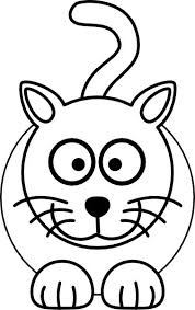Cute Cat Coloring Page For Kids Free Printable Picture