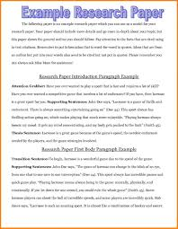 009 Introduction Of Research Paper Sample Good Examples
