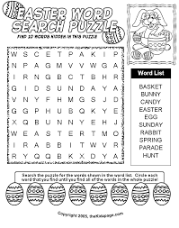 Small Picture Easter Word Search Puzzle Free Coloring Pages for Kids Printable