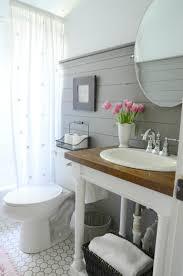 bathroom sink decor. Bright White Sink With Statement Wood Countertop Bathroom Decor