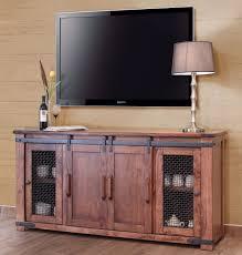 parota rustic 70 tv stand w cabinet doors