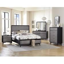 bedroom set in barnwood grey zoom