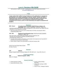 School Nurse Resume Objective ER Nurse Resume Example Resume Examples Nursing Resume And 34