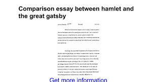 comparison essay between hamlet and the great gatsby google docs
