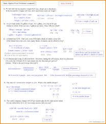 algebra 1 word problems worksheet printable