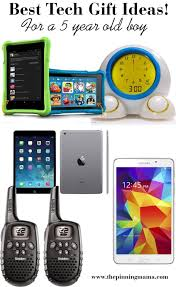 best tech gift ideas for a 5 year old boy including tablets alarm clocks