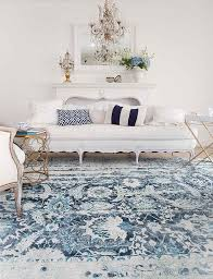 outstanding navy blue and white rug 35 oxon hand tufted