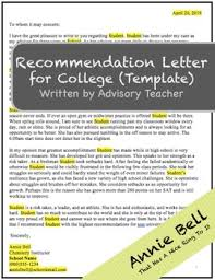 Rec Letter Rec Letter College Recommendation Letter Template By Advisory
