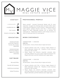 Interior Design Job Description And Info Realtor Resume Cv Template Design Real Estate Resume Cv