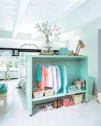 Room Divider Doubles as a Bedroom Closet