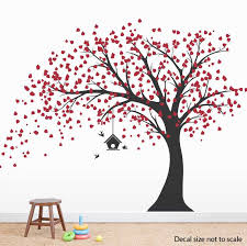 image large black tree wall decals