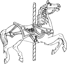 Small Picture Coloring Pages Of Carousel Animals Coloring Pages