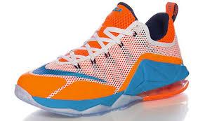 lebron low top. nike lebron 12 low gs orange blue white lebron top