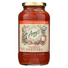 Amy S Light In Sodium Marinara Amazon Com Amys Pst Sce Og2 Family Mrn Ls Pack Of 6
