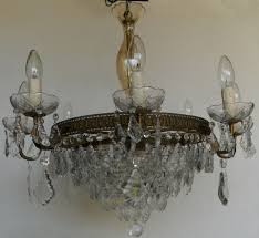 8 arm vintage brass chandelier with leaves
