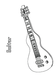 Small Picture Bass guitar coloring pages ColoringStar