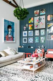 home office repin image sofa wall. Blue Wood Wall + Lizard Pattern Rug Colorful Gallery Home Office Repin Image Sofa O