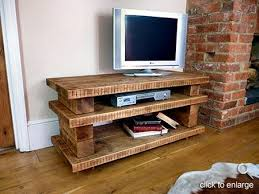 tv stands for flat screens wooden pallet  Hand crafted high quality  chunky