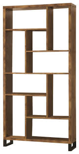 Coaster Bookcase, Antique Nutmeg/Black transitional-bookcases