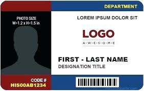 Company Id Badge Template Free Printable Id Cards Templates Badge Template Work