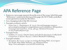 apa quick reference this powerpoint is intended to serve as a apa reference page begin on a new page separate from the text of the essay