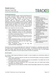 single page cv ralph james