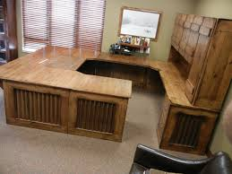 I Rustic Office Desk With Hutch Reclaimed Wood Look Aged Barn Tin Steel  Corbels Modern Country Concepts
